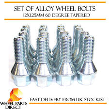 Set of 16 * 12x1.25mm 12x1.25 Alloy Steel Wheel Lug Bolts 60 Degree Tapered Nuts