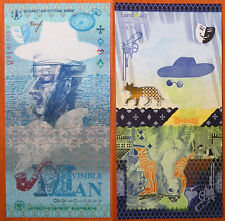"Kazakhstan Test Note 2012 "" Invisible Man "" GEM UNC"