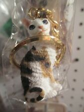 CORNISH REX TORTOISE WHITE   ~  CAT KEY CHAIN