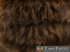 """Faux Fur Fabric Long Pile Monkey Shaggy BROWN / 60"""" Wide / Sold by the yard"""