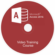 LEARN MICROSOFT OFFICE:ACCESS 2016 COURSE VIDEO TUTORIAL TRAINING GUIDE ON DVD