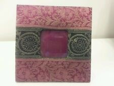 "Urban Outfitters Fabric Covered Picture Frame for 2.5"" x 2.5"" Photo"