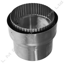 "Superior Quality Flue Liner 5"" Rigid Adaptor For Wood Burner Stoves"
