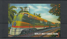 Tuvalu 2013 MNH World's Most Famous Trains 1v S/S Orange Blossom Special Stamps