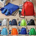 School Drawstring Book Bag Sport Gym Swim PE Dance Shoe Backpack Travel Pouch