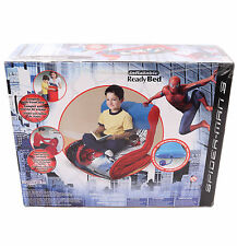 New Spiderman Children Kid Boy Ready EZ Bed Air Mattress Sleeping Bag