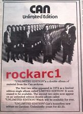 """CAN Unlimited Edition 1976 UK Poster size Press ADVERT 10x8"""""""