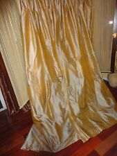 CUSTOM PINCH PLEATED IRIDESCENCE GOLD& COPPER BLACKOUT (PAIR) DRAPERY PANELS