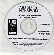 (DQ585) Absolute Monarchs, To Hell Let's Masquerade / Thinking Thieves - DJ CD