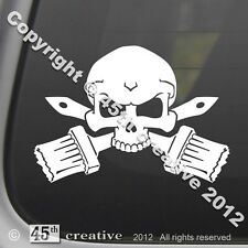 Painter's Crossbones Decal - painting brushes professional painter sticker decal