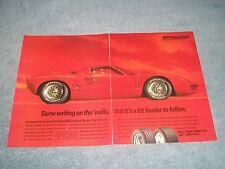 """1994 BFGoodrich Tires Vintage 2pg Ad with Ford GT40 """"Same Writing on the 'walls"""""""