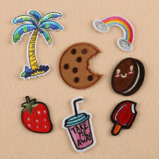 DIY Embroidery Sew Iron On Patch Badge Bag Clothes Jeans Fabric Applique 7Pcs