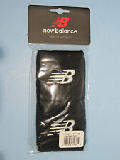 New Balance Wristbands Sweatbands Embroidered NB Logo Black 2/Pkg Unisex NIP