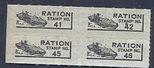 USA  WW2 War Rations Aircraft Carrier Ration stamp Block WW2 Era Ration Stamp