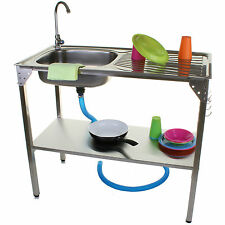 OUTDOOR KITCHEN SINK CAMPING UNIT PORTABLE FOLDING IDEAL FOR BBQ FISHING GARDEN