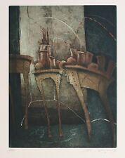 """Reinhard Zado, """"Nach dem Fest"""", 1985, Radierung handsigniert"""