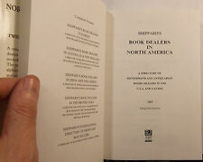 SHEPPARD'S BOOK DEALERS IN NORTH AMERICA - ANTIQUARIAN STORES - USA & CANADA