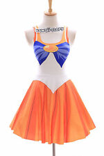 Sk-01 taille s-m sailor moon venus orange robe dress cosplay manga japon anime