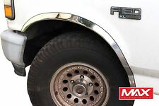 FTFD209 - 87-96 Ford F150 F250 F350 Custom Bronco Stainless Steel Fender Trim
