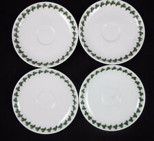 Portmeirion POMONA Saucers Green Laurel Leaf Espresso Set of 4