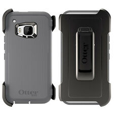 Otterbox - Glacier Grey Defender case HTC one M9  Super Protection Belt Clip