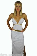 Sexy Cleopatra Greek Goddess Spartan Princess Toga Halloween Costume 8 10 12