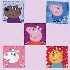 15 Peppa Pig Large Stickers - Party Favors - Danny Dog, George, Suzy Sheep, Cat