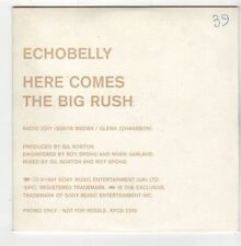 (EZ893) Echobelly, Here Comes The Big Rush - 1997 DJ CD
