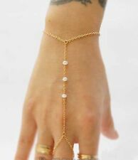PEARL Golden Round link chain ring Bracelet