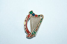 Vintage Sol d'or Miracle harp gold tone pin brooch broach EUC