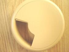Beige-Ordinateur de bureau câble tidy outlet Grommet 80mm insérer