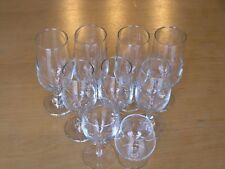 Great Group of 9 Mixed Clear Glass Quality Crystal Stemware LN Wine Cognac etc.