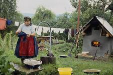 534092 Tradicional Corral Lavado Ropa hoteni Rumanía A4 Foto Impresión
