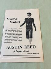m5-1 ephemera 1943 ww2 picture advert austin reed keeping contact
