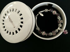 New Authentic Pandora Round Ceramic Jewelry Trinket Box Bracelets Charms Bangles