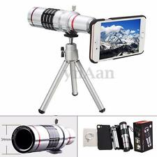18X Optical Zoom Telescope Camera Lens Tripod Kit + Back Case Cover For iPhone 7