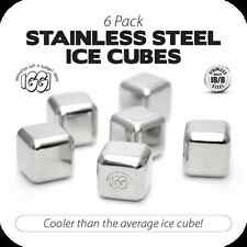 IGGI GH-017 Made Of High Quality Food Grade Stainless Steel Ice Cubes - 6 Pack