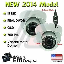 2X VARIFOCAL OUTDOOR DOME 36 IR 1000TVL SECURITY CAMERA CCTV INFRARED