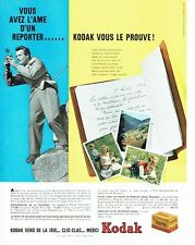 PUBLICITE ADVERTISING 126  1957  le film pellicule Kodachrome de Kodak 2
