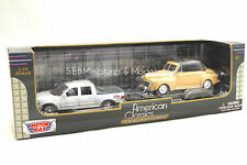 FORD F150 FX-4 1/43 AVEC PORTE VOITURE + FORD DELUXE CABRIOLET- MOTORMAX