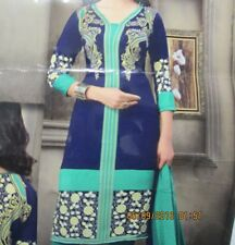 new women style beautiful printed crepe  salwar kameez Size XL 44