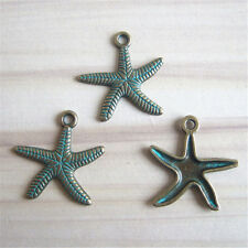 Hot 20 pcs Antique Bronze Patina Starfish Charms Pendants For DIY Findings