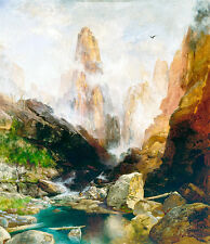 Mist in Kanab Canyon Utah by Thomas Moran 75cm x 64.7cm Canvas Print