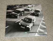 Land Rover Commercial Vehicles Brochure 2002 Freelander Discovery Defender