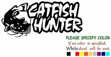 Catfish Hunter Fishing Decal Sticker JDM Funny Vinyl Car Truck Window Bumper 7""