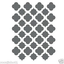 Moroccan Trellis Tile Stencils Template -small scale- For Crafting DIY decor