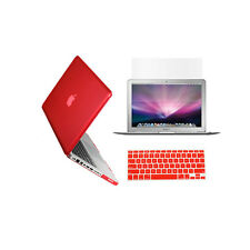 "3 in 1 Crystal  RED Case for Macbook PRO 13"" + Keyboard Cover + LCD Screen"