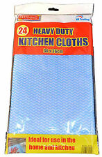 48 X ALL PURPOSE HYGIENIC CLEANING CLOTHS J TYPE CLOTH HEAVY DUTY CATERING
