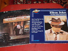 TWO VINTAGE ELTON JOHN RECORD ALBUMS IN EXTREMELY GOOD CONDITION DONT SHOOT ME..