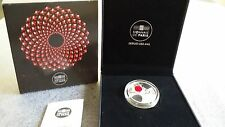 """France 10 Euro Silver Proof coin 2014 """"French Excellence: Baccarat"""" box +COA New"""